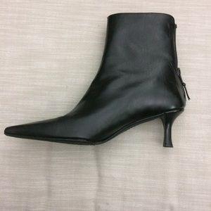 Stuart Weitzman Black Heel Ankle Boots 7.5 M